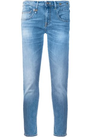 R13 Skinny cropped jeans