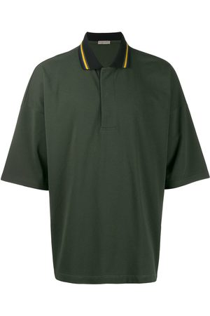 Bottega Veneta Striped collar polo shirt