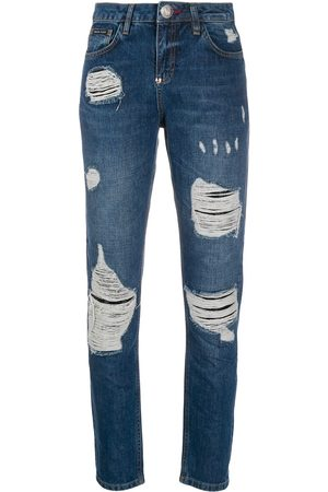 Philipp Plein Statement mid-rise slim jeans