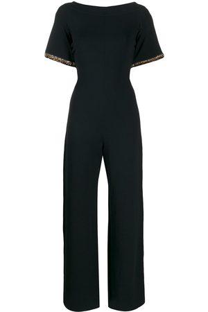Stella McCartney Beaded trim sleeved jumpsuit