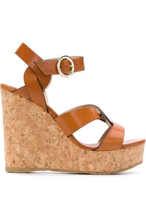 Jimmy choo Women Wedges - Aleili 120 wedge sandals