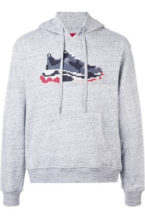 MOSTLY HEARD RARELY SEEN Dadcore print hoodie - Grey