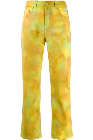 Msgm Tie-dye print trousers