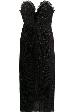 MARCO DE VINCENZO Glitter-embellished strapless dress