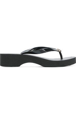 Tory Burch Logo plaque low-heel flip flops