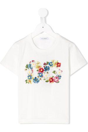 Dolce & Gabbana Kids Floral print logo T-shirt