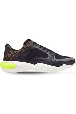 Fendi Men Sneakers - FF wavy sole sneakers