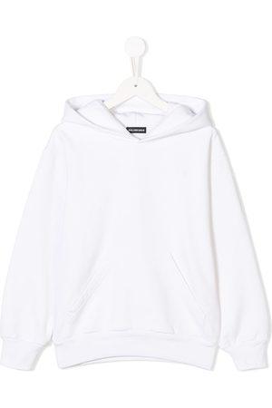 Balenciaga Boys Hoodies - Logo embroidered hoodie