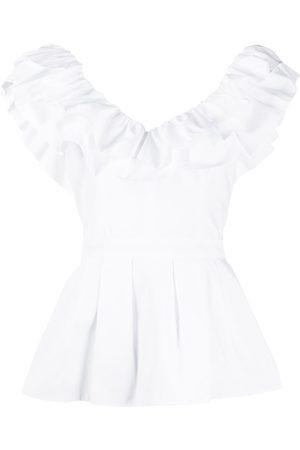 Alexander McQueen Women Blouses - Ruffle peplum blouse