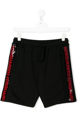 Dsquared2 TEEN logo tape track shorts