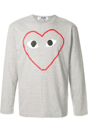 Comme des Garçons Play long sleeves T-shirt - Grey