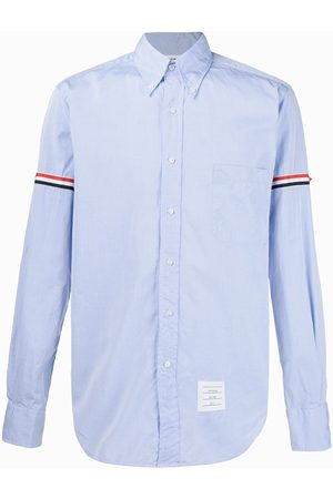 Thom Browne Striped-detail long-sleeved shirt