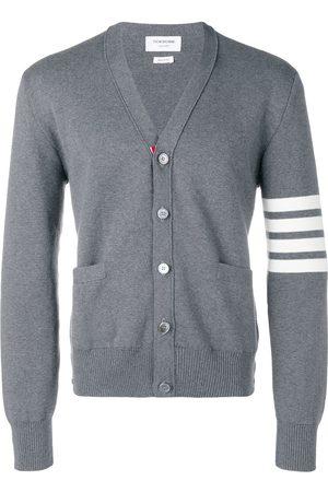 Thom Browne Men Cardigans - 4-Bar Milano Stitch cardigan - Grey