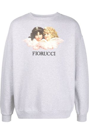Fiorucci Angels logo print boxy sweatshirt - Grey