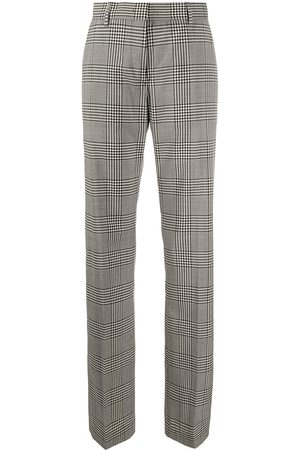 Msgm Check straight-leg trousers - Grey