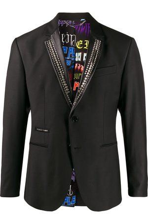 Philipp Plein Men Blazers - Stud embellished tuxedo blazer
