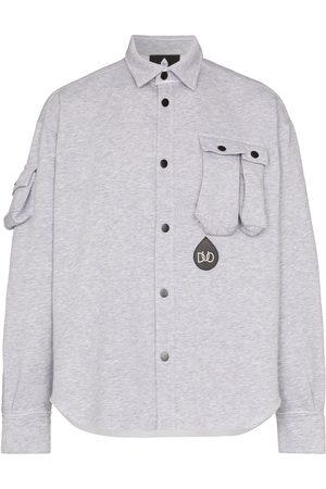 DUOltd Button-up jersey shirt - Grey