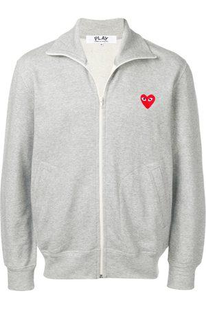 Comme des Garçons Heart print track jacket - Grey