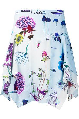 Stella McCartney Women Printed Skirts - Floral print draped skirt