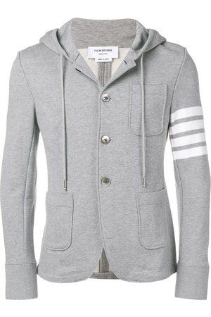 Thom Browne Men Hoodies - 4-bar Loopback Hooded Sport Coat - Grey