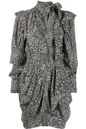 Isabel Marant Bruna draped paisley-print mini dress