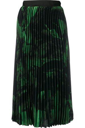 OFF-WHITE Women Pleated Skirts - Brushstroke plissé skirt