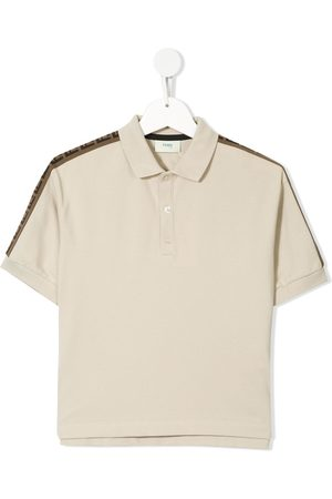 Fendi Piping FF logo polo shirt