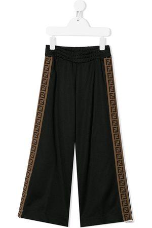 Fendi Kids FF logo flared trousers
