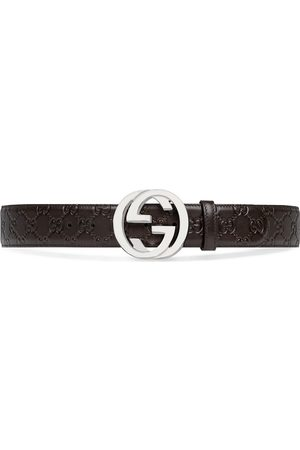 Gucci Men Belts - GG Supreme buckle belt