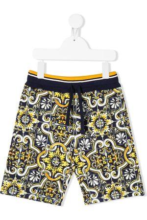 Dolce & Gabbana Tile print cotton shorts