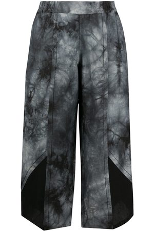 stagni 47 Cropped tie-dye trousers - Grey