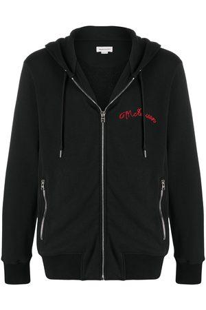 Alexander McQueen Embroidered logo zip-up hoodie