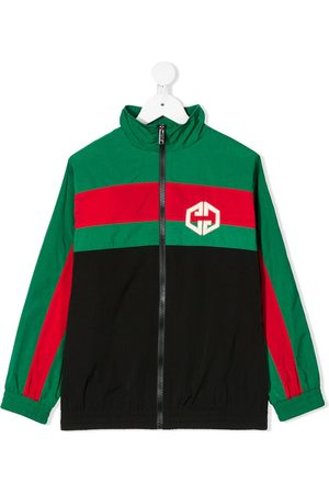 Gucci Web funnel neck jacket