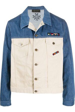Mr & Mrs Italy Contrast denim jacket