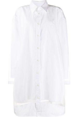 Maison Margiela Sheer panelled shirt dress