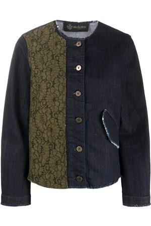 Mr & Mrs Italy Contrast panel round neck jacket