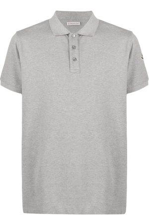 Moncler Embroidered logo short-sleeved polo shirt - Grey