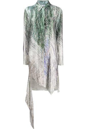 OFF-WHITE Spiral asymmetric shirt dress - Grey