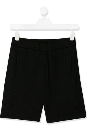 Balmain TEEN embossed logo shorts