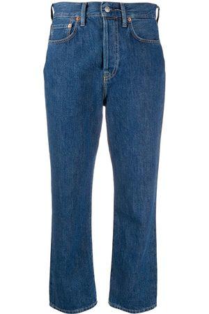 Acne Studios Women Straight - Mece straight-leg cropped jeans