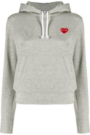 Comme des Garçons Logo heart hoodie - Grey