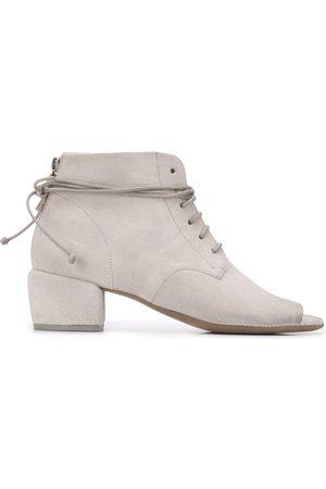 MARSÈLL Peep toe lace-up boots - Grey
