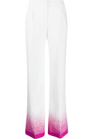 OFF-WHITE Splatter-effect palazzo pants