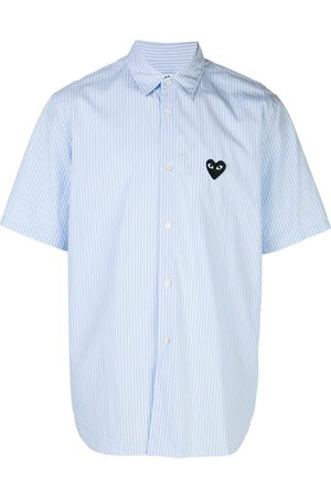 Comme des Garçons Striped logo shirt