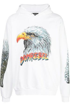 DOMREBEL Fly eagle print hoodie