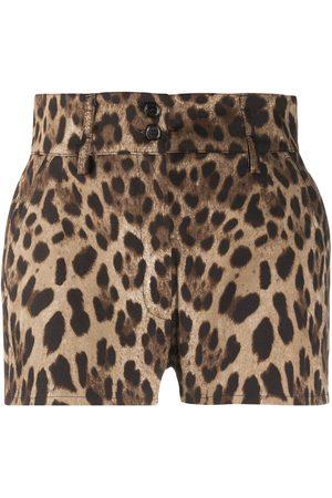 Dolce & Gabbana Leopard print high-waisted shorts