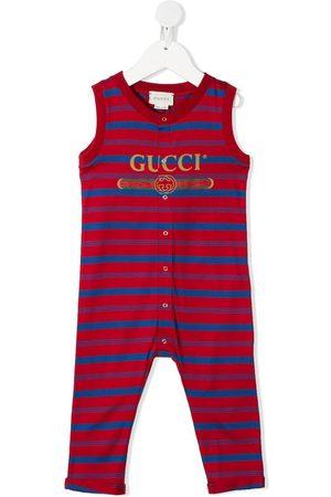 Gucci Striped logo print romper