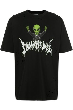 DOMREBEL Distressed alien print T-shirt