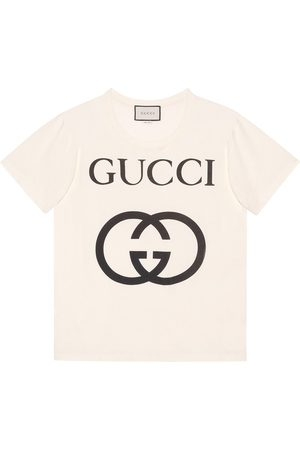 Gucci Men T-shirts - Oversize T-shirt with Interlocking G