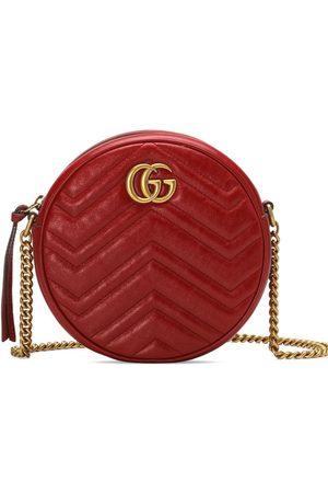 Gucci Women Shoulder Bags - GG Marmont mini leather round shoulder bag